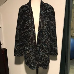 J.Jill embroidered wool jacket